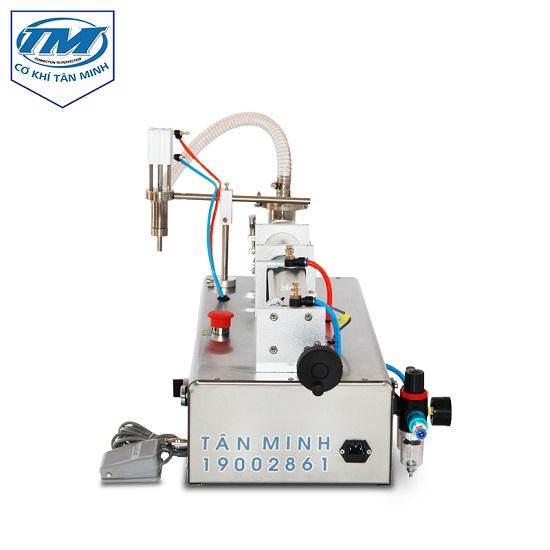 máy chiết rót dung dịch 1 vòi sử dụng 2 chế độ bán tự động và rảnh tay, người dùng có thể tùy chọn