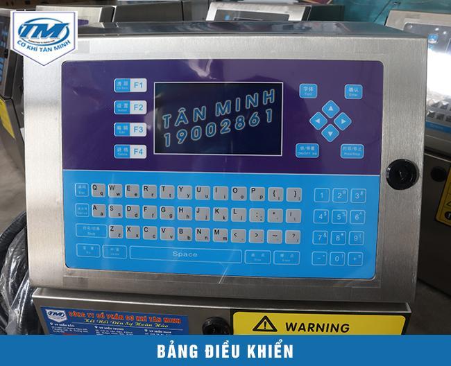 Bảng điều khiển của đơn vị cung cấp chính hãng, sử dụng bàn phím QT dễ dàng thao tác cài đặt thông số máy
